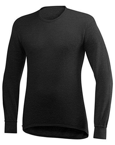 Woolpower Unisex Merinowolle Funktionsshirt Crewneck 200 Langarm, black, L