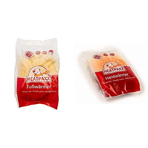 HeatPaxx Fußwärmer – Hauchdünne Zehenwärmer für unterwegs - endlich Wieder warme Füße – 10 x 2 Wärmepads & Handwärmer – Handliche Taschenwärmer für unterwegs - 10 x 2 Heizkissen