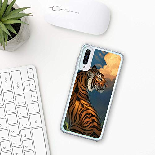 Tiger Hülle Samsung Galaxy Case A10 A20 A30 A40 A50 A70 M10 M20 M30 2019 Plastik Silikon phone case Tierwelt Wald Natur Gesicht zoo amur tiger bengal Tier