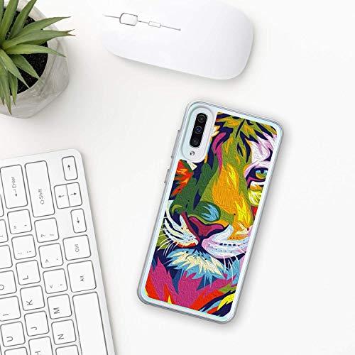 Tiger Hülle Samsung Galaxy Case A10 A20 A30 A40 A50 A70 M10 M20 M30 2019 Plastik Silikon phone case Tier Natur Wald Tierwelt amur tiger Gesicht zoo bengal